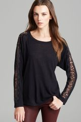 C&c California Top Dolman Lace Detail - Lyst