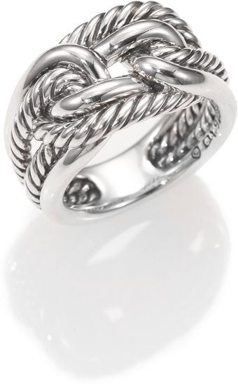 David Yurman Sterling Silver Interlocked Ring - Lyst