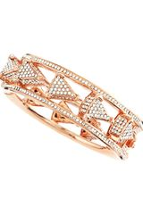 Eddie Borgo Pave Triangle Caged Bangle - Lyst