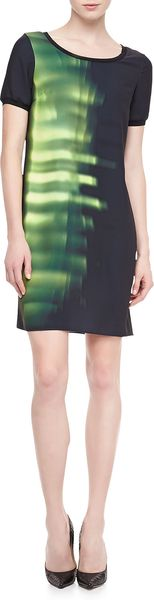 Elie Tahari Maudette Printed Shift Dress - Lyst