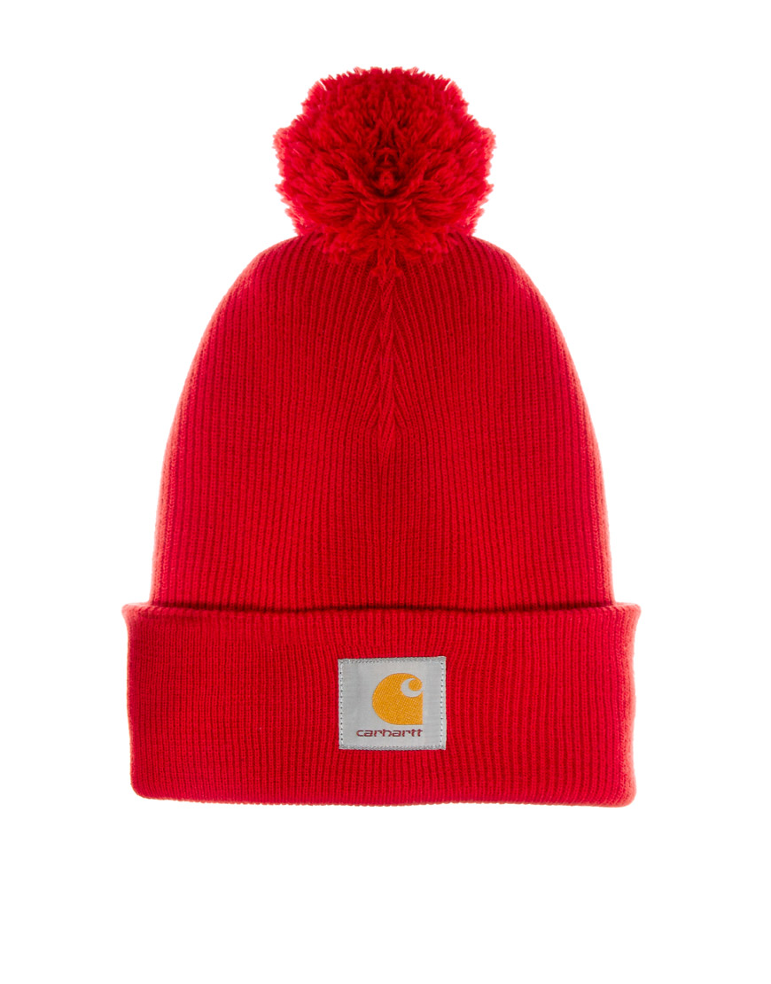 Lyst - Fjallraven Carhartt Bobble Watch Beanie Hat in Red for Men aba0bafebba