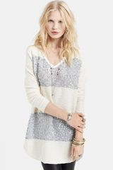 Free People Sequin Leopard Stripe Pullover - Lyst