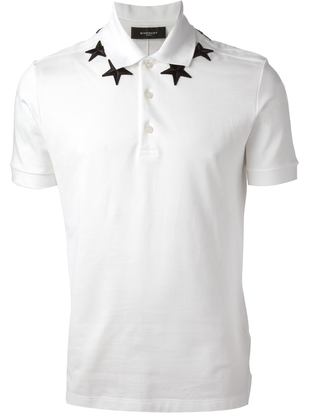 Givenchy Star Print Polo Shirt In White For Men Lyst