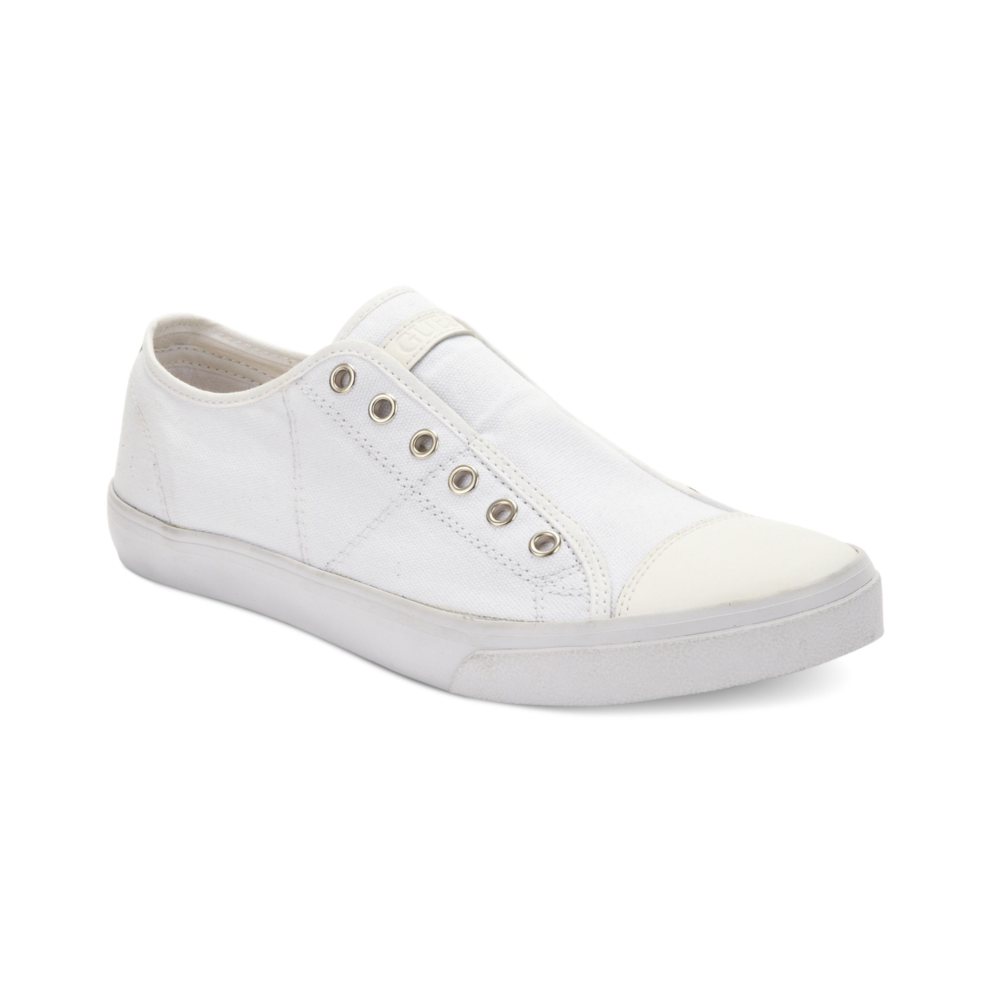 guess mens shoes mickey sneakers in white for lyst