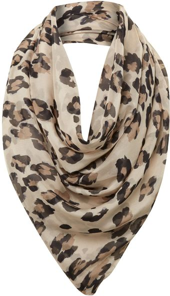 Helene Berman Large Animal Print Silk Scarf - Lyst