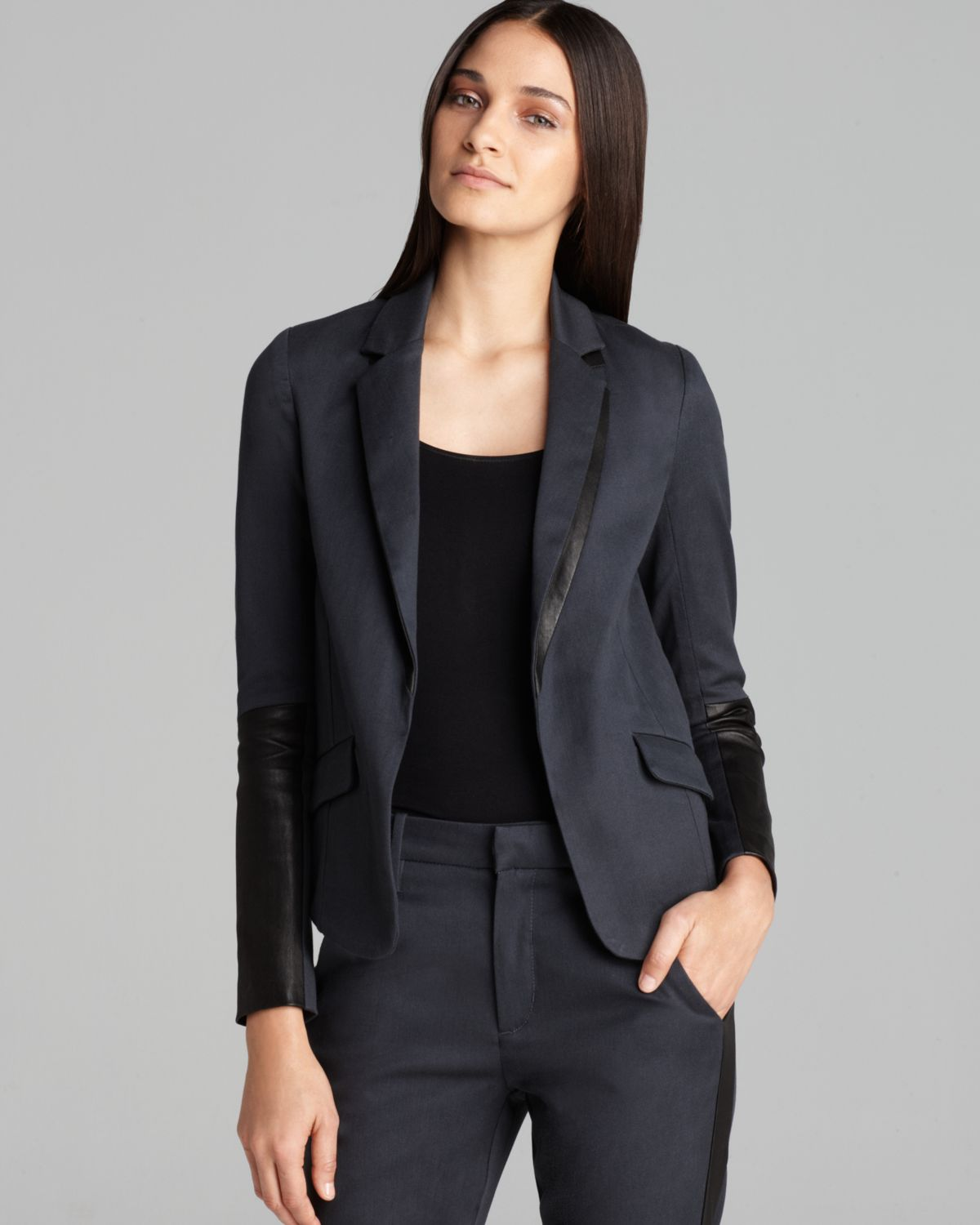 Joe's jeans Jacket Reyna Suit in Gray | Lyst