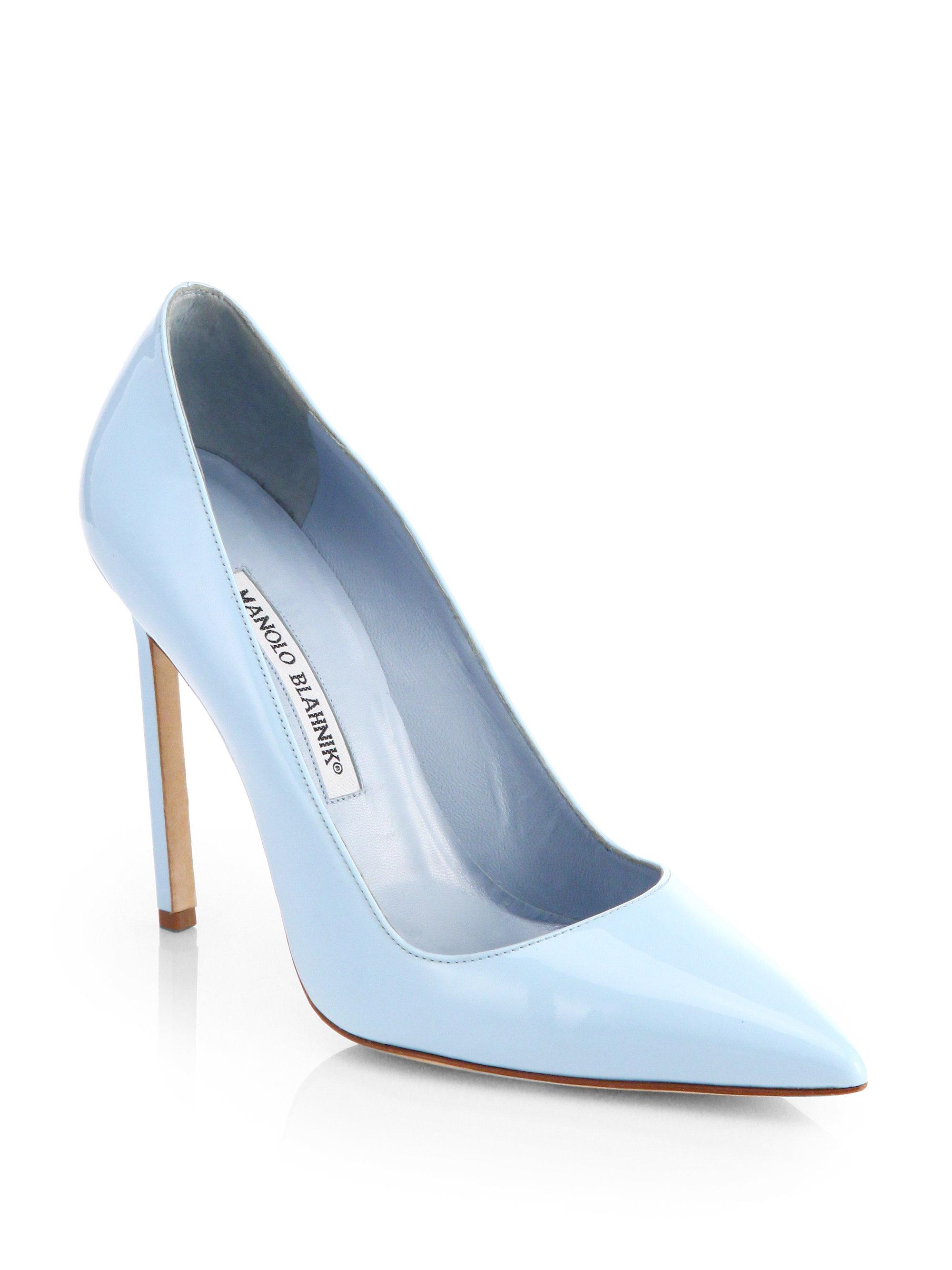 Pale Blue High Heel Shoes