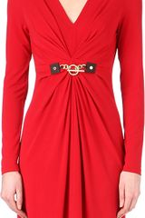 Michael Kors V-neck Chain Detail Dress - Lyst