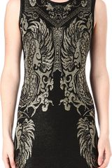 Roberto Cavalli Jacquard Knitted Dress - Lyst