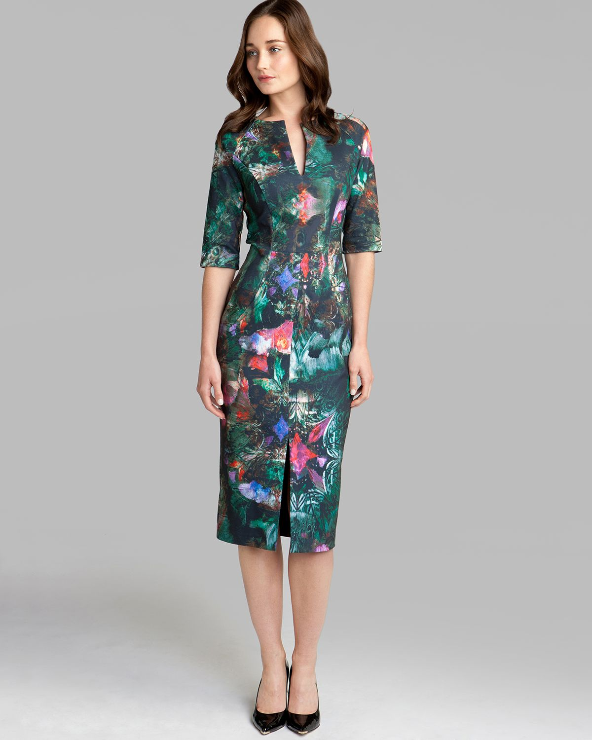 Ted Baker Dress Iyana In Multicolor Black Lyst