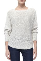 Vince Round-hem Knit Sweater - Lyst