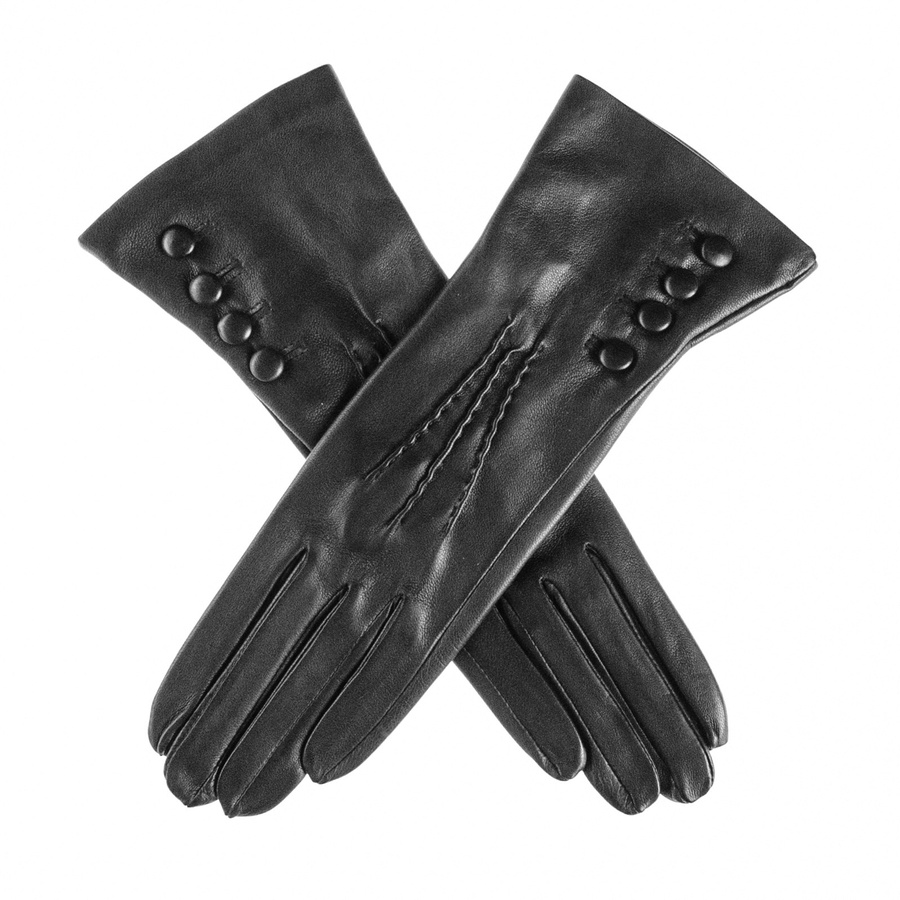 Black leather gloves buttons - Gallery Women S Leather Gloves