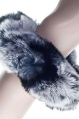 Black.co.uk Silver Rabbit Fur Cuffs - Lyst