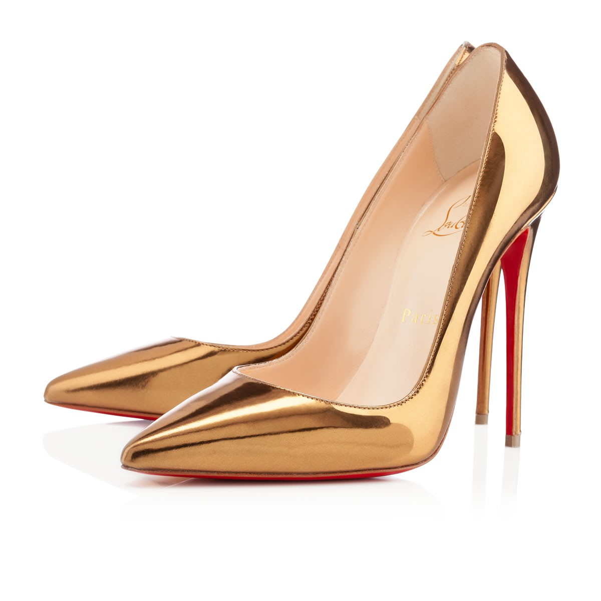 Christian Louboutin So Kate Kid Leather Pumps in Black | Lyst