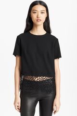Christopher Kane Crackle Detail Wool Crepe Top - Lyst