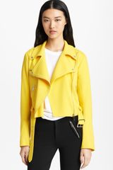Christopher Kane Wool Crepe Biker Jacket - Lyst