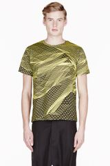 Christopher Kane Yellow Digital Landscape T_shirt - Lyst