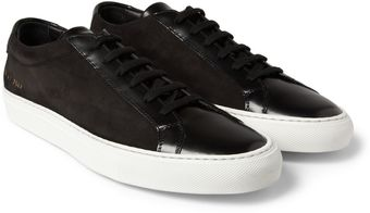 Common Projects Achilles Leather and Suede Low Top Sneakers - Lyst