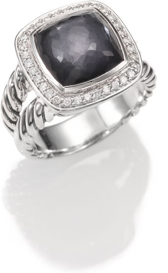 David Yurman Black Orchid Diamond Sterling Silver Ring - Lyst