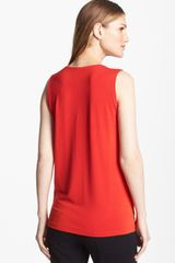 Eileen Fisher Scoop Neck Jersey Tank - Lyst