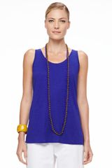 Eileen Fisher Bindu Silk Beaded Necklace - Lyst