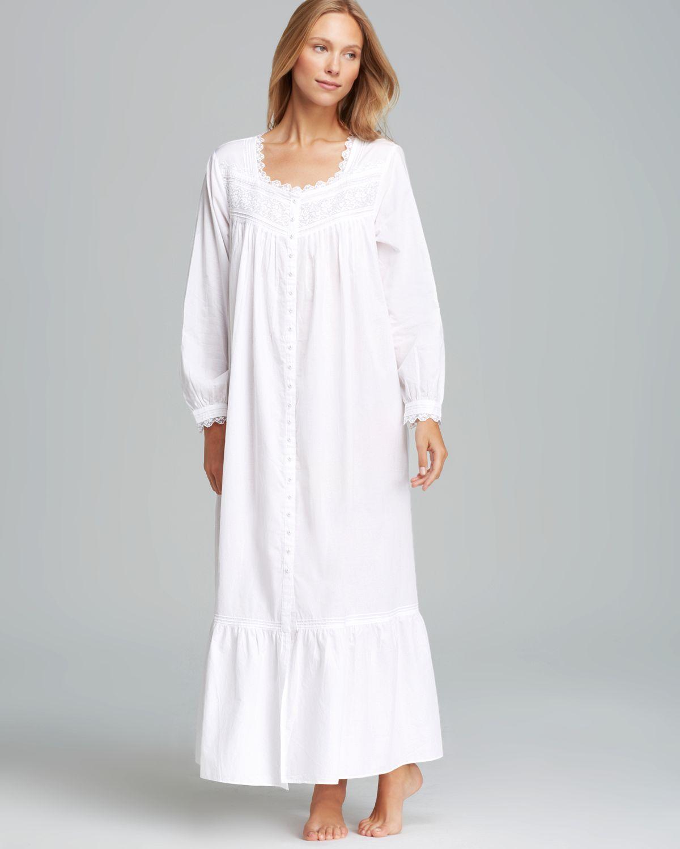 3d4f128b6f Lyst - Eileen West Bellisima Long Sleeve Ballet Gown in White