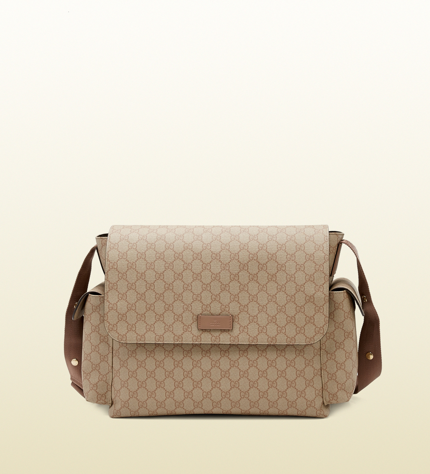 397b687883dc83 Gucci Gg Supreme Canvas Messenger Diaper Bag in Natural for Men - Lyst