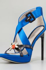 Jason Wu Marisa Jeweled Platform Sandal Blue - Lyst