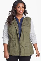Lucky Brand French Terry Military Jacket - Lyst