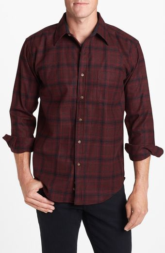 Pendleton Lodge Fitted Plaid Wool Flannel Shirt - Lyst
