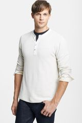 Rag & Bone Long Sleeve Piqué Henley - Lyst