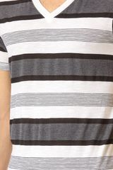 Splendid Variegated Stripe Tshirt - Lyst