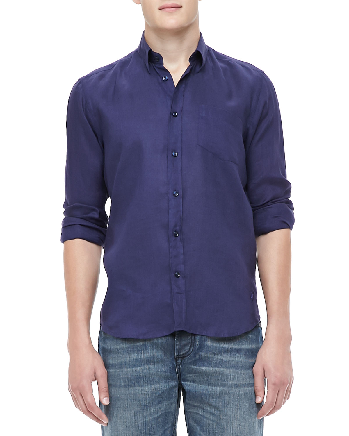 Banana Republic Mens Linen Shirt