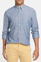 Gant Rugger Selvedge Madras Cotton Sport Shirt - Lyst