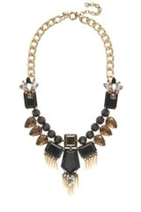 J.Crew Golden Fringe Statement Necklace - Lyst