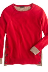 J.Crew Side Button Sweater in Colorblock - Lyst