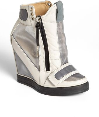 L.a.m.b. Stephanie High Top Wedge Sneaker - Lyst