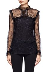 Maje Duree Lace Blouse