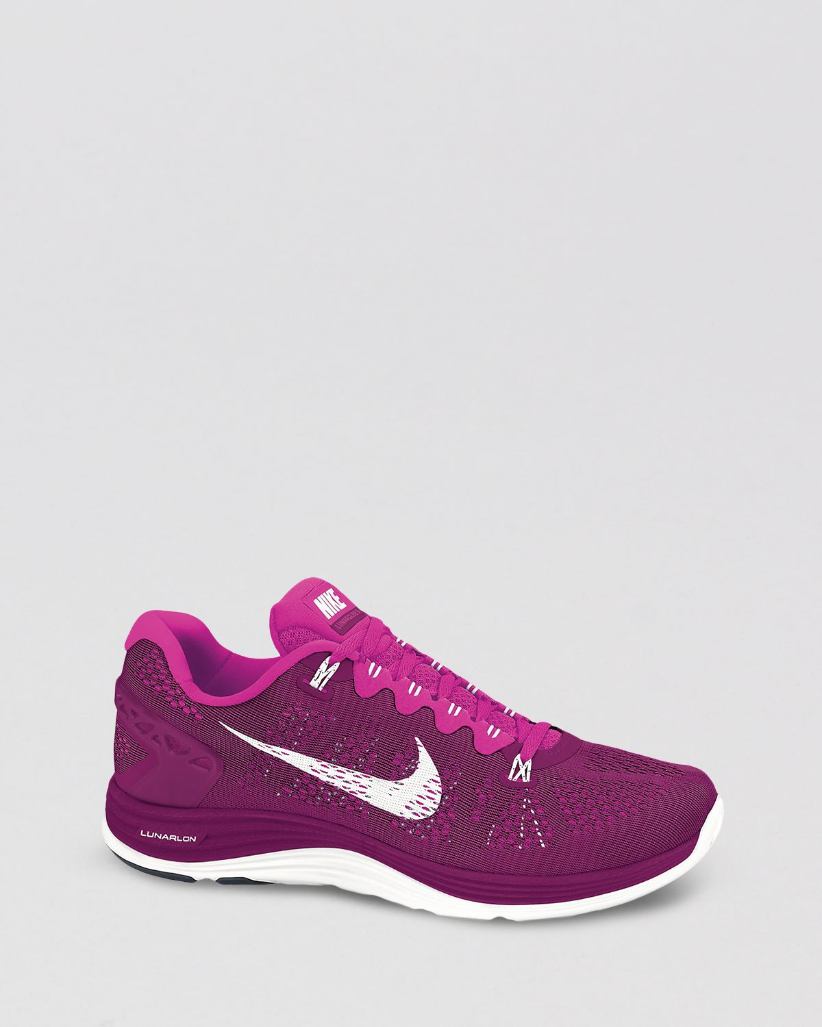 online store 4c3c9 c6f2f Lyst - Nike Lace Up Sneakers Womens Lunarglide 5 in Purple