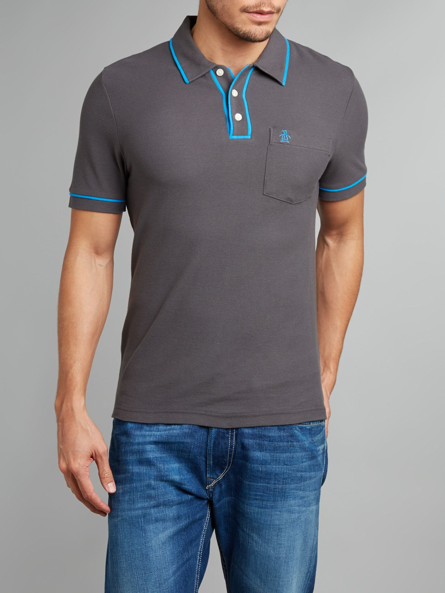 Original Penguin Earl Polo Shirt In Gray For Men Lyst