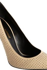 Saint Laurent Studded Paris Pump - Lyst