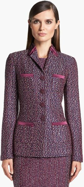 St. John Collection Dash Tweed Knit Jacket - Lyst