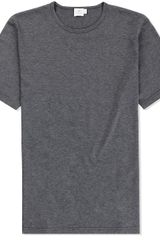Sunspel Short Sleeve Crew Neck Tshirt - Lyst