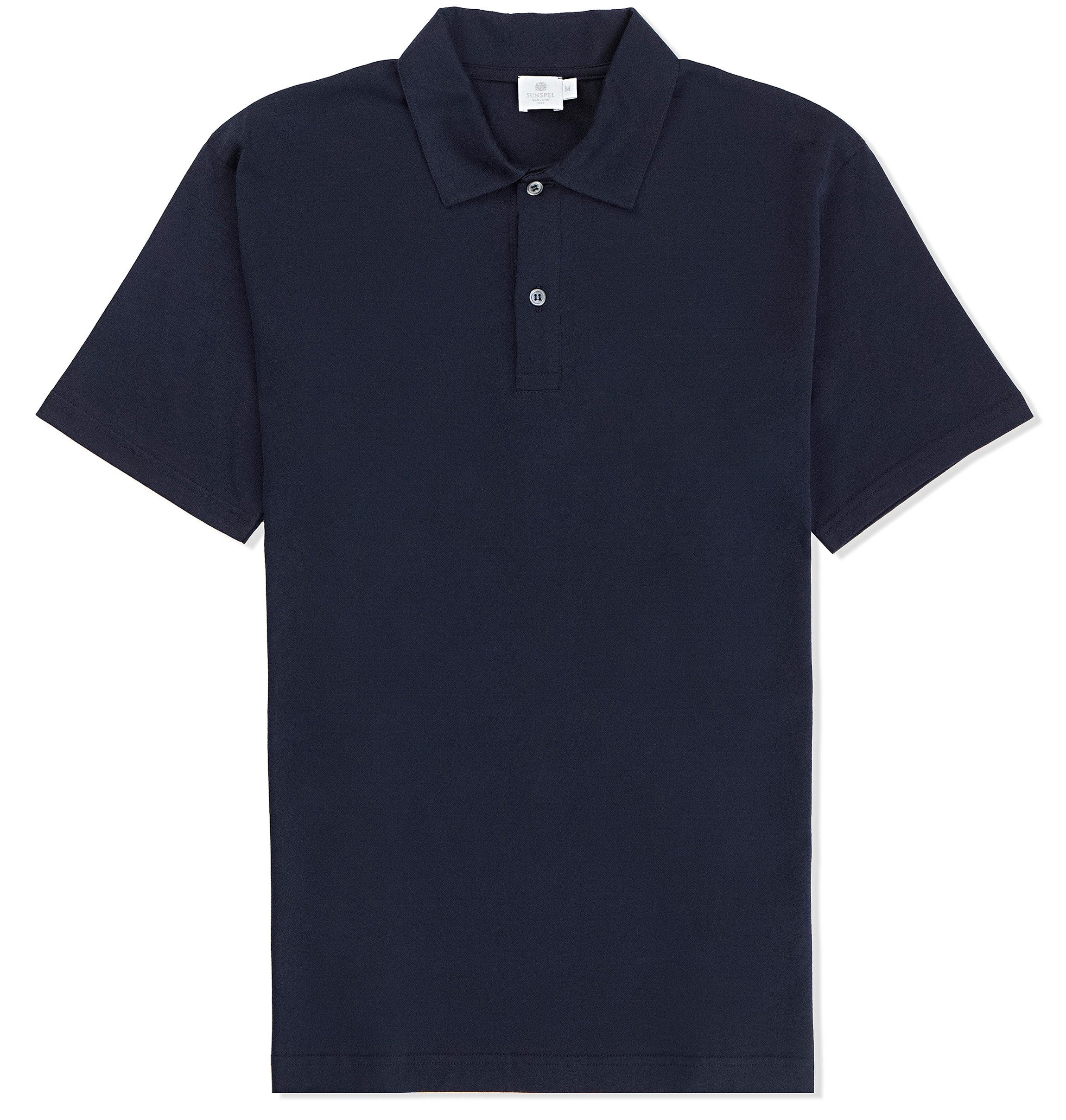 sunspel jersey polo shirt in blue for men navy lyst