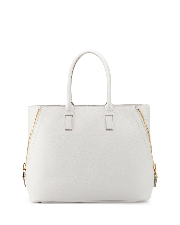 0c45cc082d Lyst - Tom Ford Jennifer Trap Calfskin Tote Bag White in White