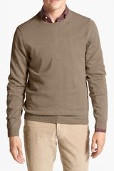 Wallin & Bros. Trim Fit Cotton Cashmere Crewneck Sweater - Lyst