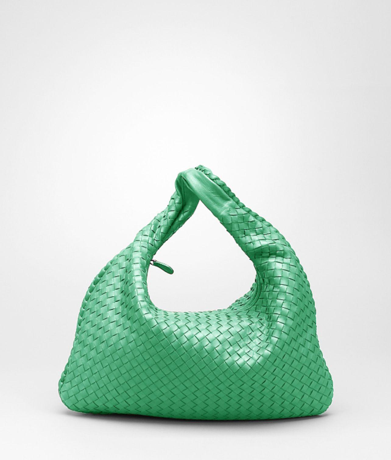 Lyst - Bottega Veneta Trèfle Intrecciato Nappa Veneta in Green 5fee2db6d3c8d