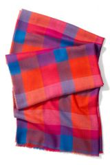 Coach Bright Plaid Oblong Scarf - Lyst
