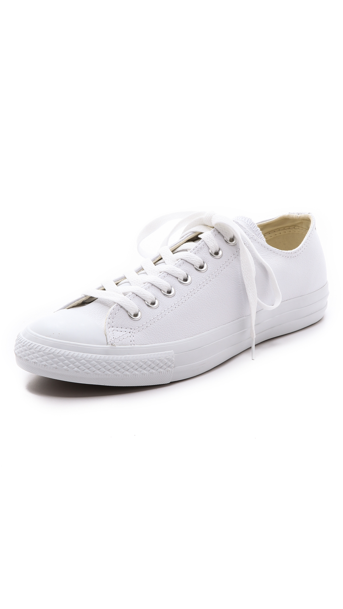 converse chuck all leather sneakers in white