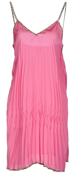 Just Cavalli Short Dress in Pink - Lyst